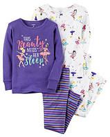 Пижама для девочки Carter's(Картерс) 2Т, 3Т