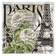 Салфетка Париж винтаж 2-7157