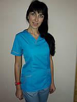 Медицинский женский костюм без застежки