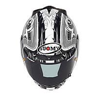 Фирменный шлем Suomy   CASCO SY APEX TORNADO SIL/ANT размер XL