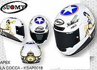 Стильный фирменный шлем Suomy  APEX LA COCCA размер ХХXL