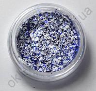 Снежок синий для дизайна ногтей