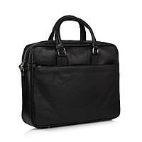 Портфель Virginia Conti VCM01285A кожаный Черный
