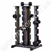 Подставка (стойка) для гантелей четырехсторонняя