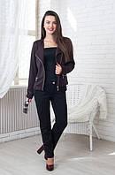 Модный трикотажный женский жакет-косуха