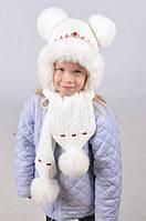 Качественный детский набор из шапки и шарфа Код:412884783