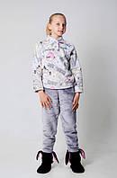 Качественная детская пижама из велюра Код:412612189