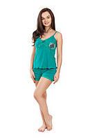 Качественная женская пижама бирюзового цвета