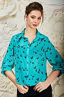 Молодежная яркая женская блузка из шифона
