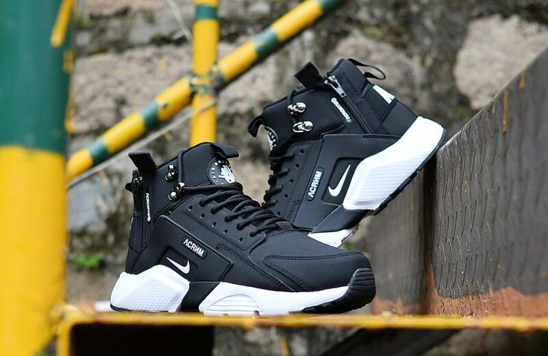 2a0eff3599c19 Nike Huarache X Acronym City MID Leather Black White