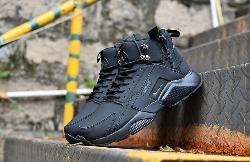 Nike Huarache X Acronym City MID Leather All Black