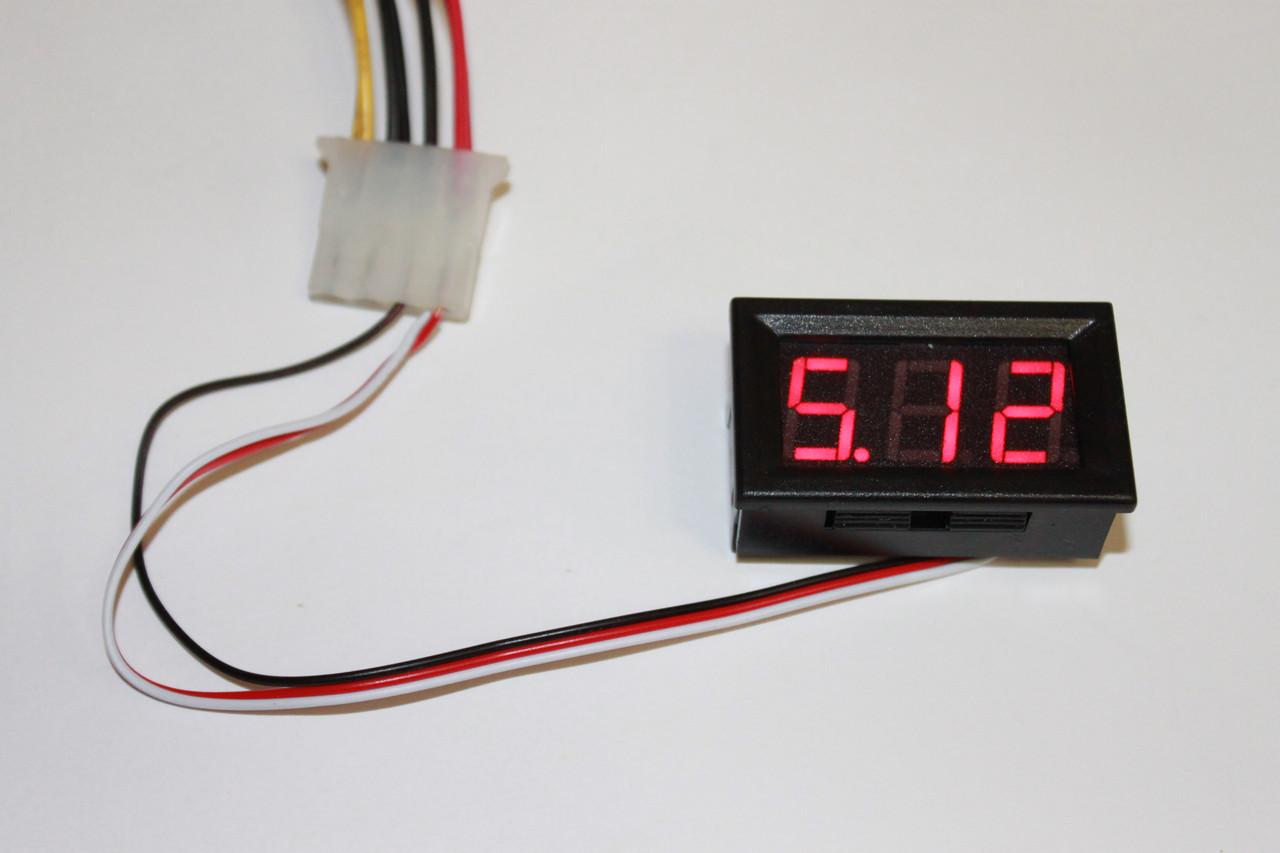 Вольтметр DC 0-30V D-SUN RED цифры