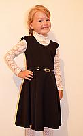 Нарядный детский сарафан с бусинками и поясом