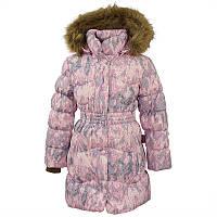 Зимнее пальто на натуральном гусином пухе GRACE 1 для девочки от 5 до 10 лет р. 110-140 ТМ HUPPA Розовое 17930155-73203