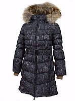 Зимнее пуховое пальто YASMINE для девочки 6, 7 лет р. 116, 122 ТМ HUPPA Черное 12020055-73209