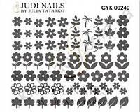 Трафарет Deep design для дизайна ногтей #240