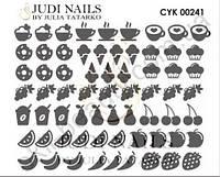 Трафарет Deep design для дизайна ногтей #241