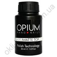 Финишное покрытие OPIUM Matte Top с липким слоем, 30 мл