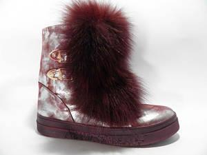 Уггі жіночі ** Belle-Shoes 777 зимові срібло мармур