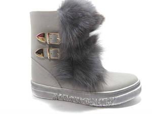 Уггі жіночі ** Belle-Shoes 777 зимові сірі