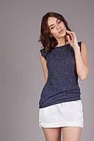 Модный легкий летний женский топ синего цвета