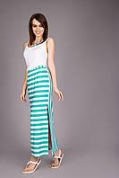 Молодежная женская юбка в полоску Код:293549771
