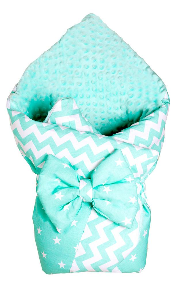 Конверт-одеяло Babyroom Dream DM-012 плюш  бирюзовый