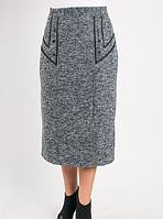 Зимняя прямая женская юбка оптом и в розницу Код:443168006