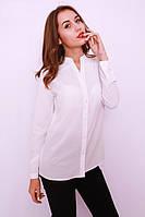 Классическая белая блузка-рубашка на пуговицах