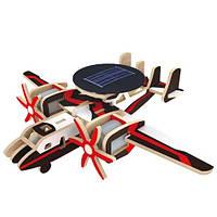 Деревянный конструктор «Самолет радиолокационной разведки» на солнечной батарее