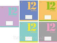 Тетради «Фоновая Евро», 12 листов, клетка