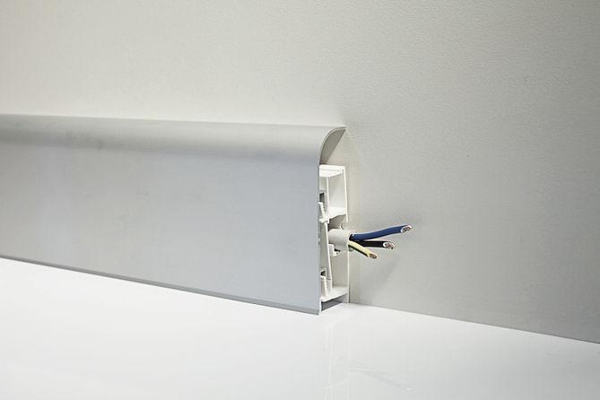 Алюминиевый плинтус для пола Profilpas Metal Line модель 97/8