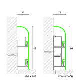 Алюминиевый плинтус для пола Profilpas Metal Line модель 97/8, фото 6