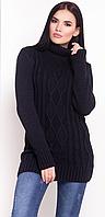 Туника женская шерстяная синяя