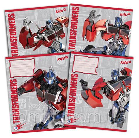 Тетради «Transformers» 12 листов, клетка, фото 2