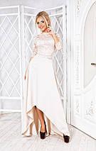 """Нарядный женский костюм """"Mirabelle"""" с асимметричной юбкой (3 цвета), фото 2"""