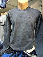 Тонкий мужской серо-голубой свитер POOLL