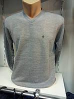 Серый однотонный мужской пуловер POOLL