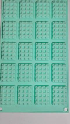 """Силиконовая форма """"Крекер печенье"""" из 20шт, фото 2"""