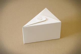 """Картонная коробка для торта 15*11*9 см """"Кусочек торта - белый"""""""