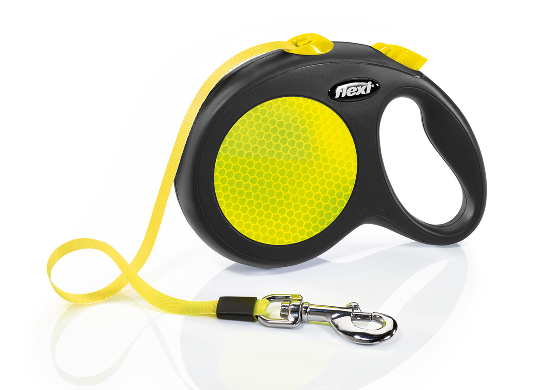 Flexi Neon L лента 5 метров до 50 кг поводок-рулетка для собак
