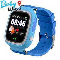 Детские умные часы Smart Watch GPS трекер Q90/Q100 Blue / детские ЧАСЫ - ТЕЛЕФОН / Гарантия