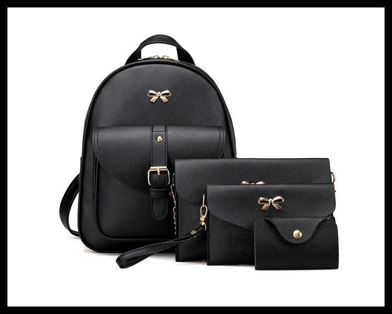 0ce7d51432e38 Нежный женский набор 4в1 для модных девушек рюкзак, клатч, косметичка,  визитница. Качественный