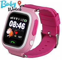 Детские умные часы Smart Watch GPS трекер Q90/Q100 pink / детские ЧАСЫ - ТЕЛЕФОН / Гарантия