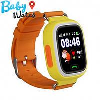 Детские умные часы Smart Watch GPS трекер Q90/Q100 Orange / детские ЧАСЫ - ТЕЛЕФОН / Гарантия