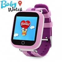 Детские умные часы Smart Watch GPS трекер Q100s Pink / детские ЧАСЫ - ТЕЛЕФОН / Гарантия