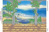 """Схема для вышивки бисером """"Арка у моря (част.  выш.)""""  размер: 42*30 см"""
