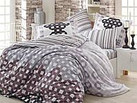 Комплект постельного белья сатин тм Hobby евро размер Marsella серый