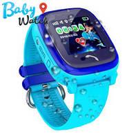 Детские умные часы Водонепроницаемые Smart Watch GPS трекер DF25  Blue / детские ЧАСЫ - ТЕЛЕФОН / Га