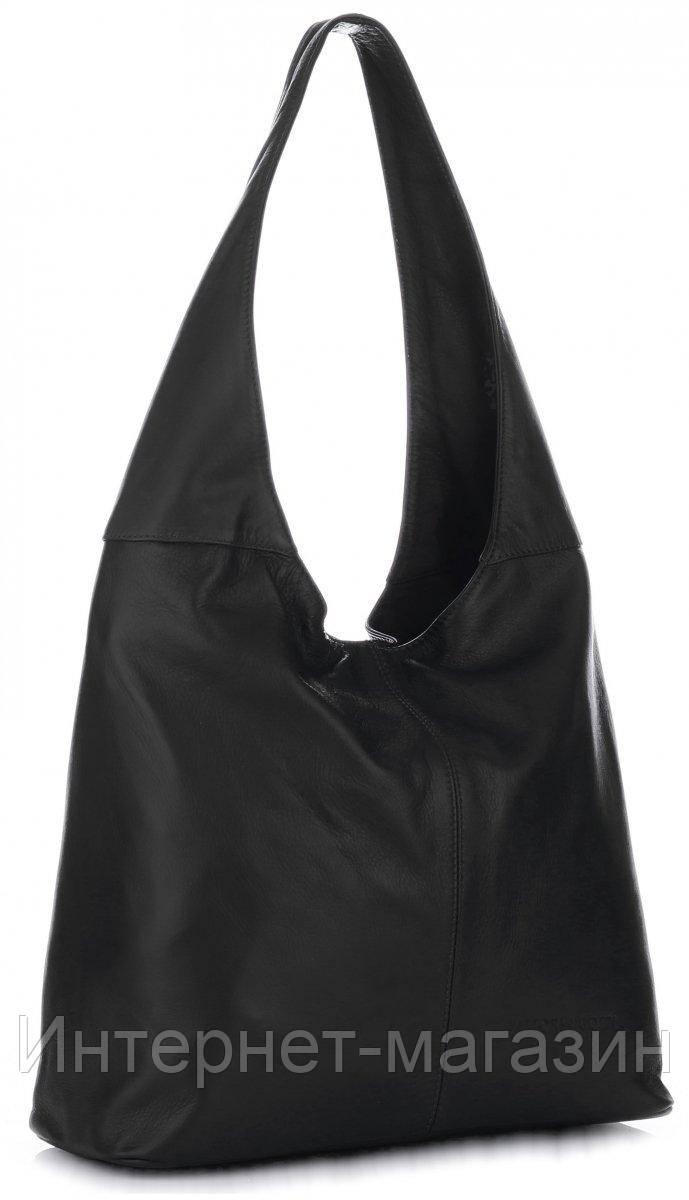 77f4f5d731f7 Универсальная итальянская сумка VITTORIA GOTTI из натуральной кожи, черного  цвета